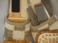 Saunaslippers detail
